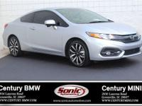 1 Owner, Clean Carfax! This 2015 Honda Civic EX-L coupe