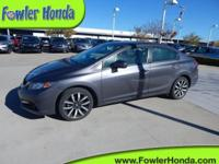 Civic EX-L and 4D Sedan. Gasoline! Join us at Fowler