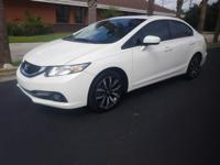 CARFAX One-Owner. White 2015 Honda Civic EX-L FWD CVT