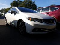 CARFAX One-Owner. Clean CARFAX. White 2015 Honda Civic