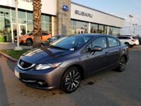 Options:  2015 Honda Civic Ex-L|Carfax One-Owner. Clean
