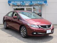 This Honda Certified Civic Sedan 4dr CVT EX-L w/Navi
