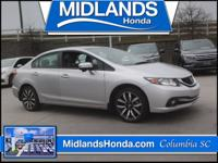 2015 Honda Civic EX-L CARFAX One-Owner. Alloy wheels,