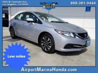 Recent Arrival! 2015 Honda Civic EX LOW MILES!