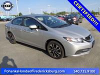 This 2015 Civic sedan has a clean CARFAX and low miles