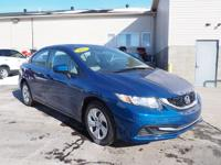 This 2015 Honda Civic LX is a great option for folks