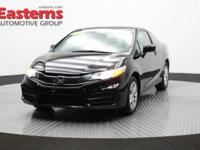 2015 2D Coupe Black 2015 Honda Civic LX FWD 1.8L I4