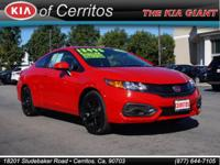 CARFAX One-Owner. Clean CARFAX. Red 2015 Honda Civic LX