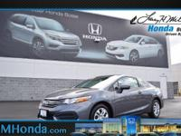 Delivers 39 Highway MPG and 30 City MPG! This Honda