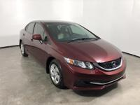 CARFAX One-Owner. Clean CARFAX. 2015 Honda Civic LX FWD