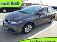 Civic LX and 4D Sedan. Get ready to ENJOY! Fowler Honda