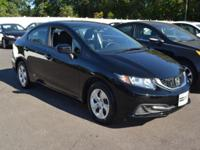 This 2015 Honda Civic Sedan 4dr 4dr CVT LX features a