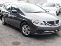 New Price! Certified. 2015 Honda Civic LX Modern Steel