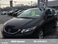 CARFAX 1-Owner. LX trim, Crystal Black Pearl exterior