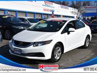 Recent Arrival! Cloth. 2015 Honda Civic LX White FWD