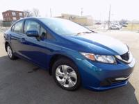 CARFAX One-Owner. Clean CARFAX. Blue 2015 Honda Civic