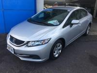 This 2015 Honda Civic Sedan LX is proudly offered by