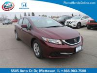 Recent Arrival! 2015 Honda Civic LX Maroon ** ONE OWNER