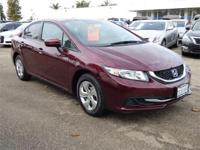 Options:  2015 Honda Civic Sedan 4Dr Cvt Lx Used|Red