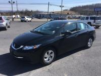 Civic LX, 4D Sedan, 1.8L I4 SOHC 16V i-VTEC, CVT, and