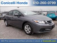 This 2015 Honda Civic Sedan LX is priced to sell. A ton