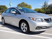 Options:  2015 Honda Civic Sedan Lx|Alabaster Silver