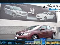 Snatch a bargain on this 2015 Honda Civic Sedan LX