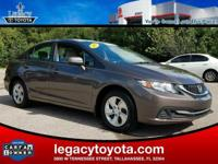 CARFAX One-Owner. BLUETOOTH, BACKUP CAMERA, Civic LX,