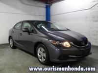 2015 Honda Civic LX Black Cloth CARFAX One-Owner. 36/28
