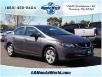 This 2015 Honda Civic LX features a backup camera,