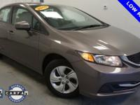 New Price! CARFAX One-Owner. Civic LX, 4D Sedan, 1.8L