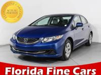 CARFAX 1-Owner, ONLY 13,063 Miles! EPA 39 MPG Hwy/30