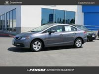 CARFAX One-Owner. Clean CARFAX. Gray 2015 Honda Civic
