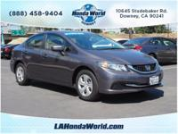 Don't miss out on this 2015 Honda Civic LX! It comes