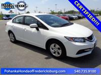 This 2015 Civic sedan is a one vehicle with a clean