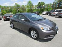 New Price! Gray w/Cloth Seat Trim. 2015 Honda Civic LX