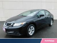 A One Owner AutoNation Certified 2015 Honda Civic LX