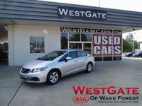 CARFAX One-Owner. Clean CARFAX. Silver 2015 Honda Civic