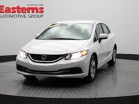Recent Arrival! 2015 4D Sedan White 2015 Honda Civic LX