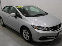 2015 Honda Civic LX Alabaster Silver Metallic Gray