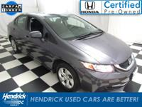 New Arrival! This Honda Civic is Certified Preowned!