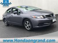 Options:  2015 Honda Civic Sedan Se|Modern Steel