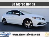 This 2015 Honda Civic Sedan SE is proudly offered by Ed