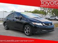Options:  2015 Honda Civic Se|Black|Carfax One-Owner.