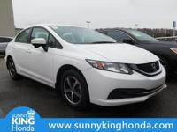 Recent Arrival! 2015 Honda Civic SE White Clean CARFAX.