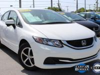 ONE-OWNER, CLEAN CARFAX, and HONDA CERTIFIED. Civic SE,