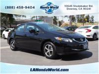 This 2015 Honda Civic SE includes a backup camera,