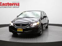 2015 4D Sedan Black 2015 Honda Civic SE FWD 1.8L I4