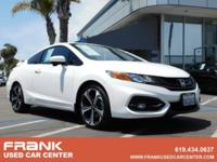 Clean CARFAX. White 2015 Honda Civic Si FWD Close-Ratio