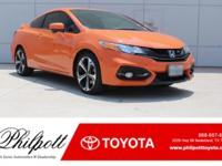 This 2015 Honda Civic Coupe Si comes complete